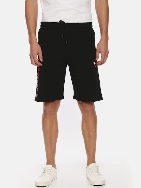Converse Men Black Printed Regular Fit Shorts