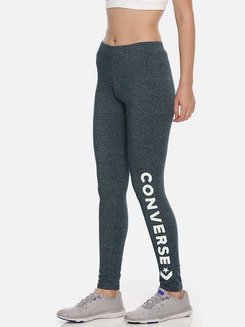 Converse Women Navy Solid Tights