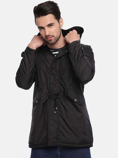 Peter England Casuals Men Black Solid Tailored Jacket