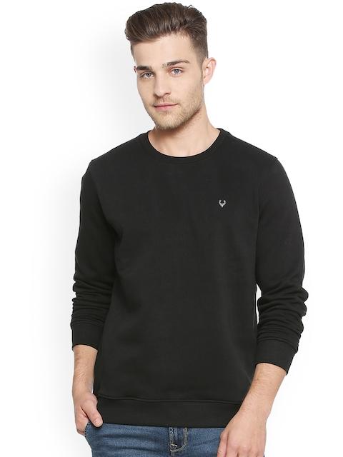 Allen Solly Men Black Solid Sweatshirt