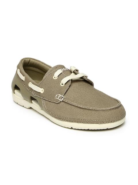 Crocs Men Brown Boat Shoes