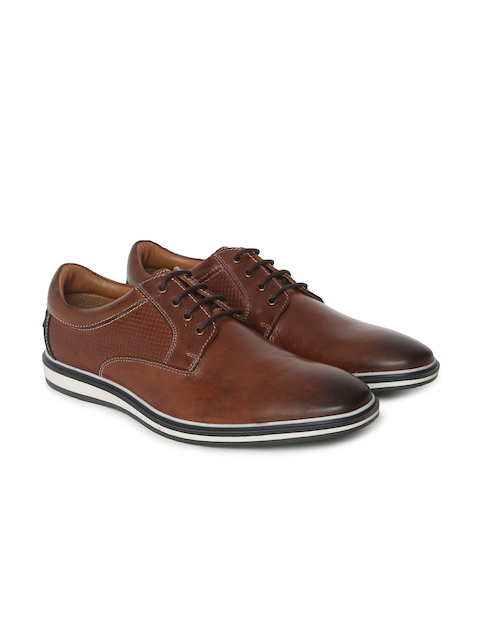 Jack & Jones Men Brown JFW EGOSS Leather Derbys