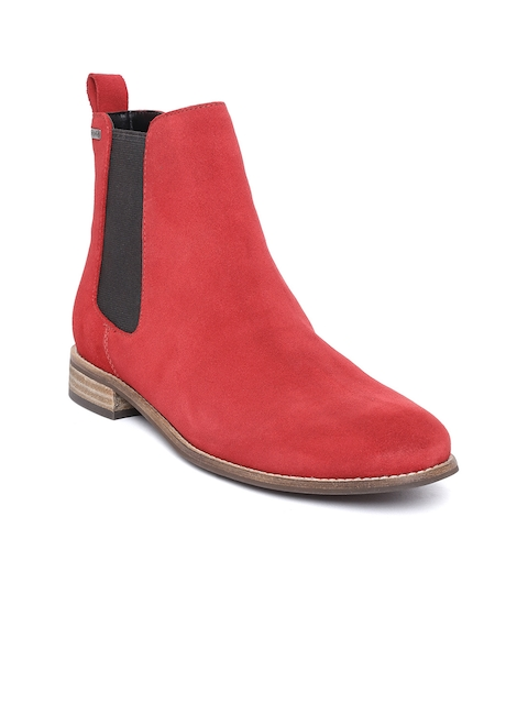 Superdry Women Red Flat Boots