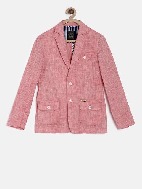 Gini and Jony Boys Pink Single-Breasted Casual Blazer
