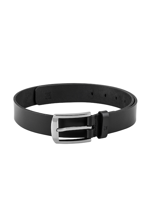 Aditi Wasan Men Black Solid Leather Belt