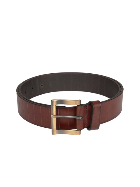 Aditi Wasan Men Brown Solid Leather Belt
