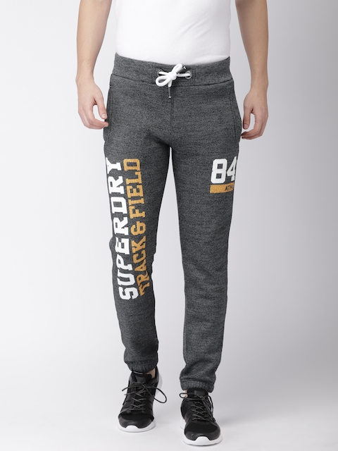 Superdry Men Charcoal Grey Slim Fit Joggers