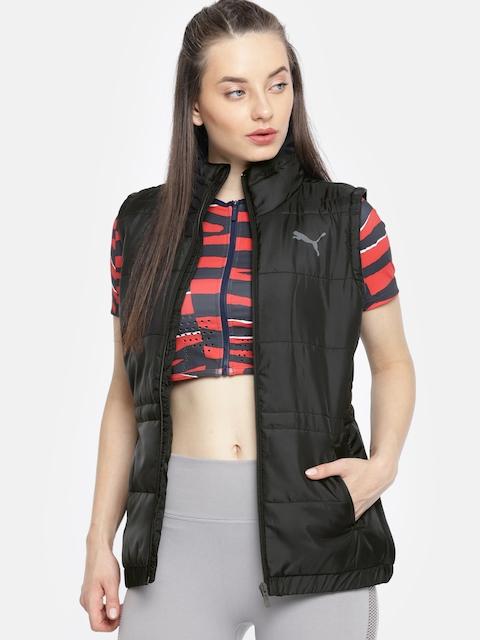 Puma Women Black Solid ESS Padded Jacket