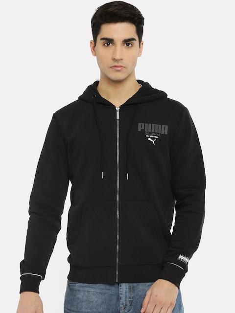 Puma Black Athletics FZ Hoody Regular Fit Hooded Sweatshirt