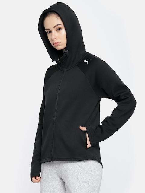 Puma Women Black Evostripe Core FZ Hooded Jacket