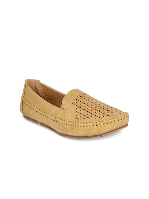 Flat n Heels Women Khaki Loafers