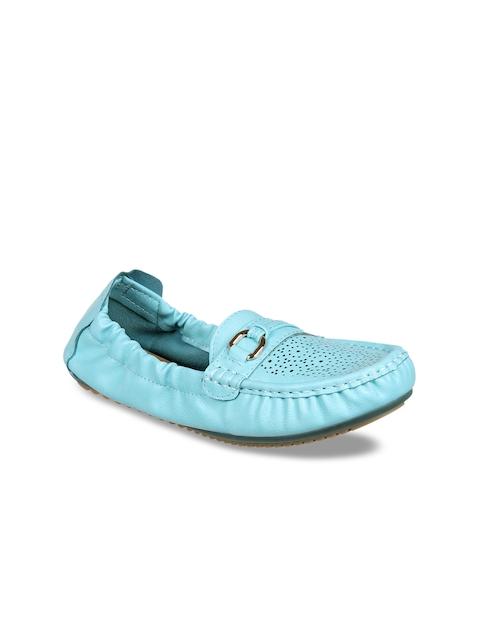 Flat n Heels Women Blue Loafers