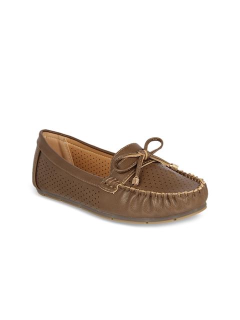 Flat n Heels Women Brown Loafers