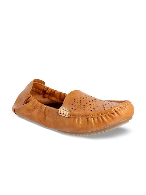 Flat n Heels Women Tan Loafers