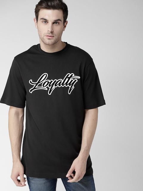 4a8e97b2a1b8df 40%off Tommy Hilfiger LEWIS HAMILTON Men Black Flock Print Round Neck T- shirt
