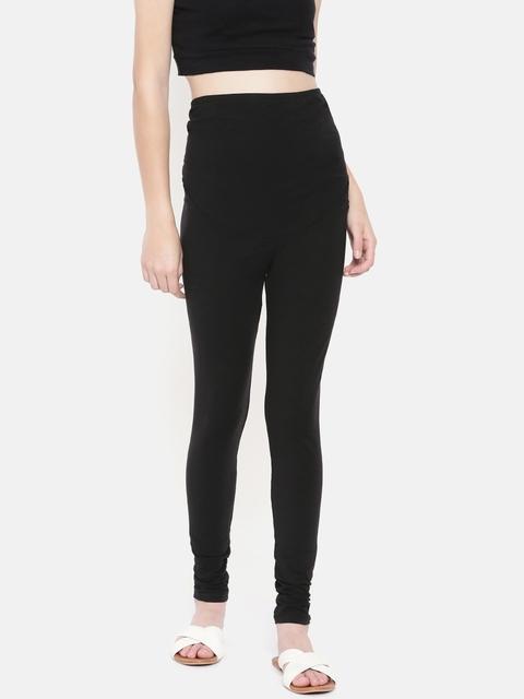 OVS Women Black Solid Leggings