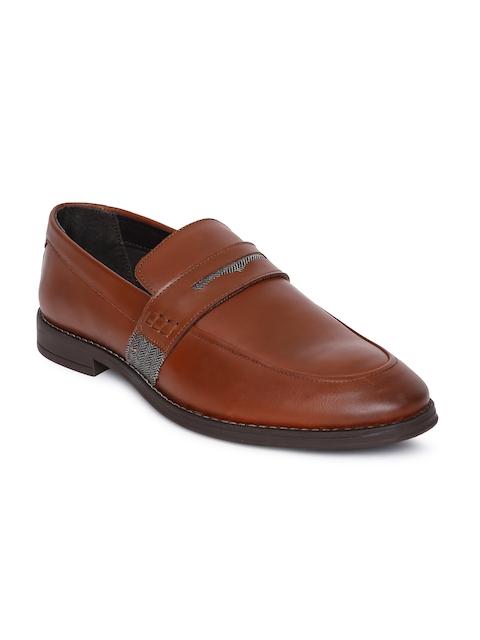 Arrow Men Tan Brown DARWIN Slip-On Formal Leather Loafers