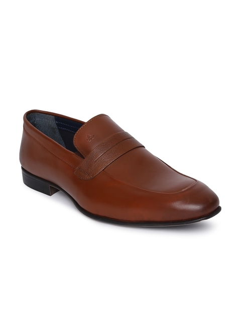 Arrow Men Tan Brown SANFORS Slip-on Leather Formal Shoes