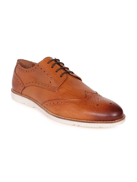 Arrow Men Tan Brown CRESTONE Leather Formal Brouges