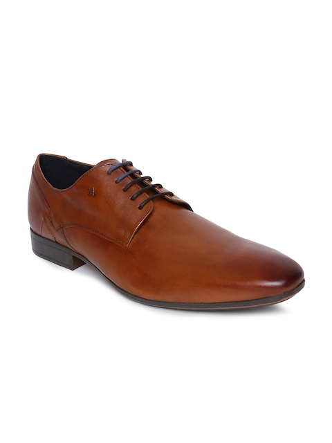 Arrow Men Tan Formal Leather Oxfords