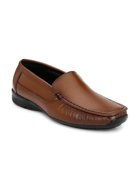 Eego Italy Men Brown Formal Leather Slip-Ons
