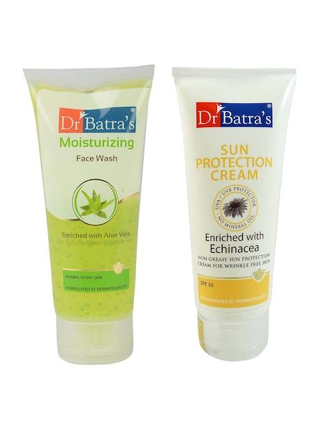 Dr. Batras Unisex Set of Moisturizing Face Wash & Sun Protection Cream