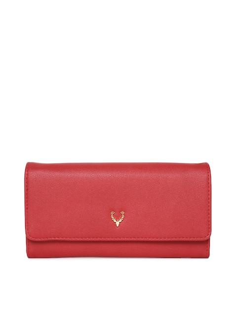 Allen Solly Women Red Solid Two Fold Wallet