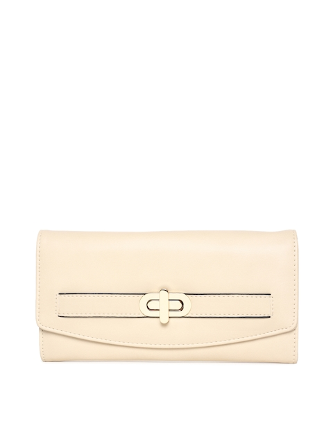 Allen Solly Women Beige Solid Two Fold Wallet