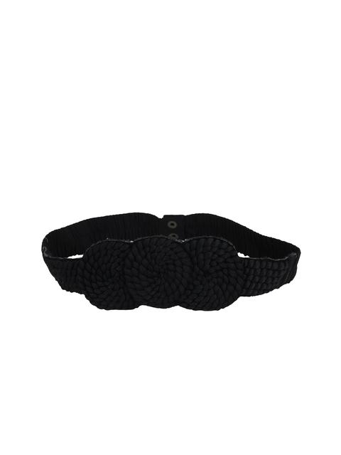 Diwaah Women Black Braided Belt