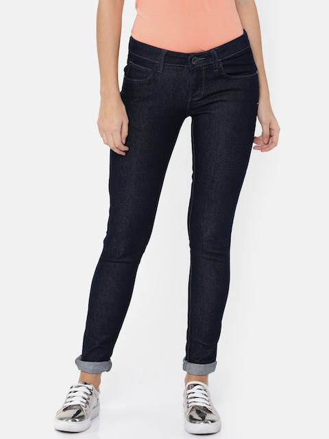 Wrangler Women Blue Ultra Skinny Fit Low-Rise Clean Look Stretchable Jeans
