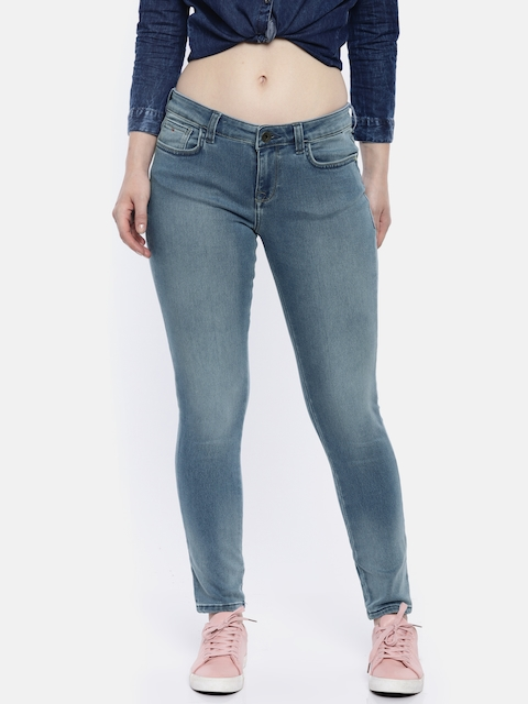 Wrangler Women Blue Super Skinny Fit High-Rise Clean Look Stretchable Jeans