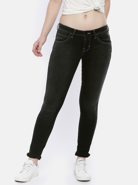 Wrangler Women Black Super Skinny Fit Low-Rise Jeans