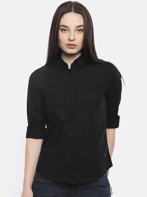 Wrangler Women Black Solid Casual Shirt