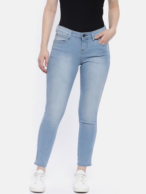 Wrangler Women Blue Skinny Fit Mid-Rise Jeans