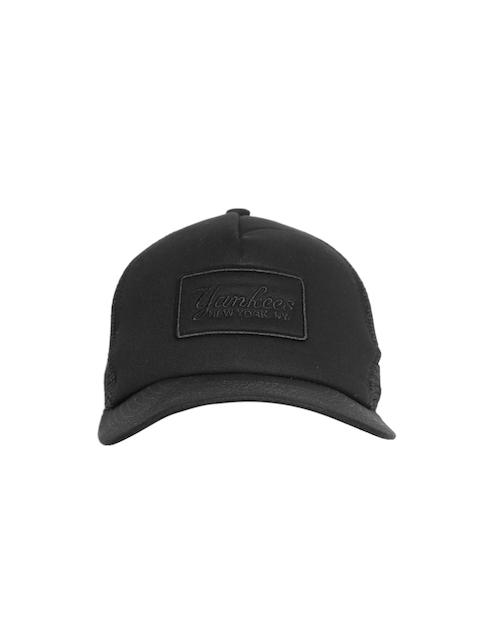 NEW ERA Men Black Solid Snapback Cap