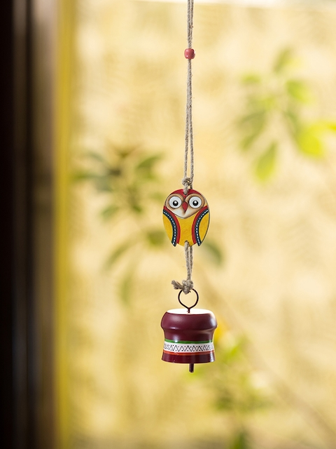 ExclusiveLane Multicoloured Decorative Hanging Metal Wind Chime