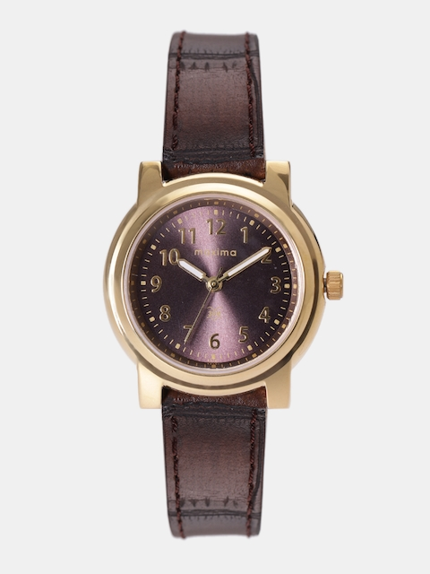 maxima Women Burgundy Analogue Watch O-45001LMLY