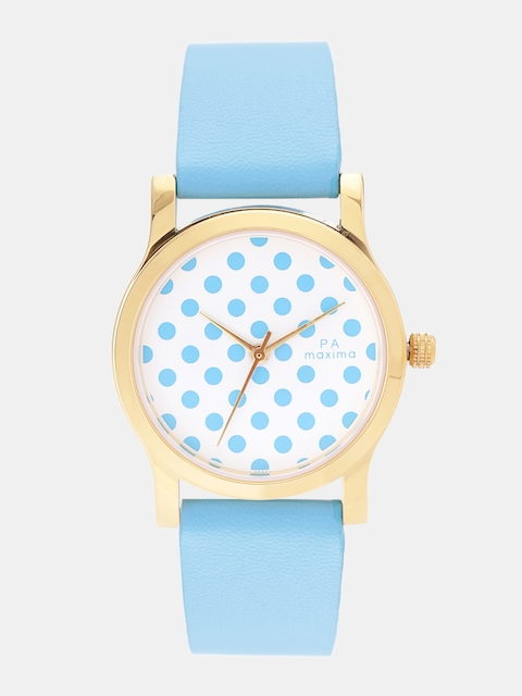 maxima Women White & Blue Analogue Watch O-50864LMLY