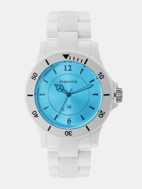 maxima Men White Analogue Watch O-45991PPLN