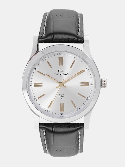 maxima Men Silver-Toned Analogue Watch O-49562LMGI