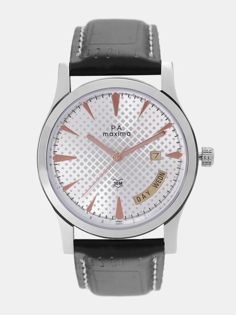 maxima Men Silver-Toned Analogue Watch O-49661LMGI