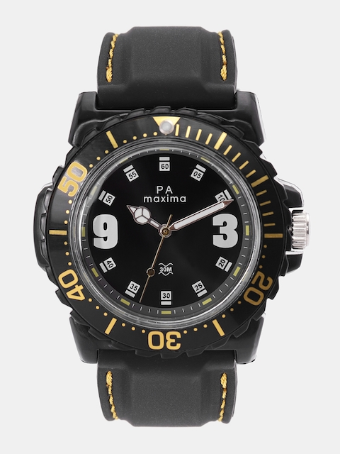 maxima Men Black Analogue Watch O-45840PPGW