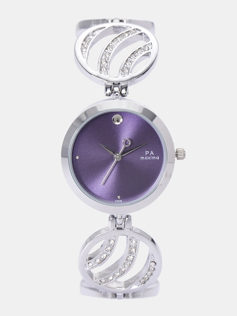 maxima Women Purple Analogue Watch O-44940BMLI