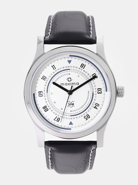 maxima Men White Analogue Watch O-44675LMGI