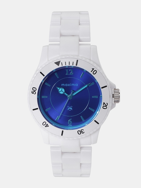 maxima Men Blue Analogue Watch O-45990PPLN