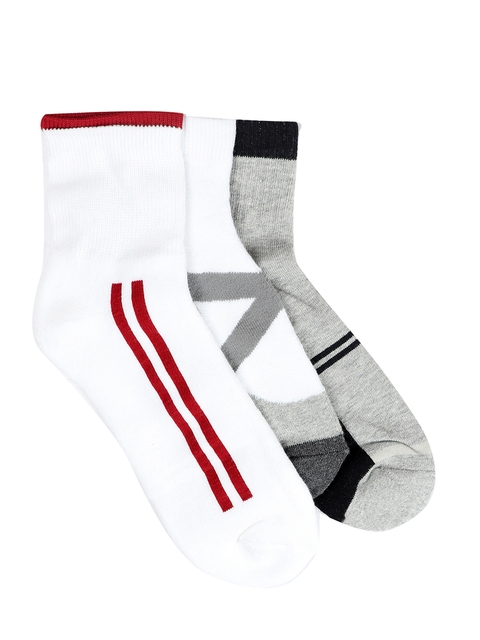 Peter England Men Set of 3 Ankle-Length Assorted Socks