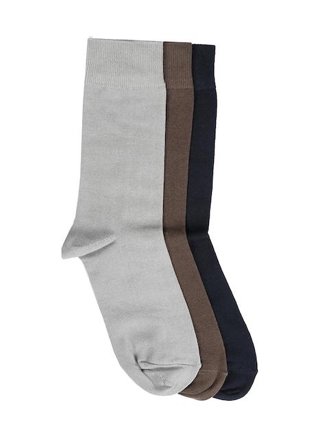 Peter England Men Set of 3 Calf-Length Assorted Socks