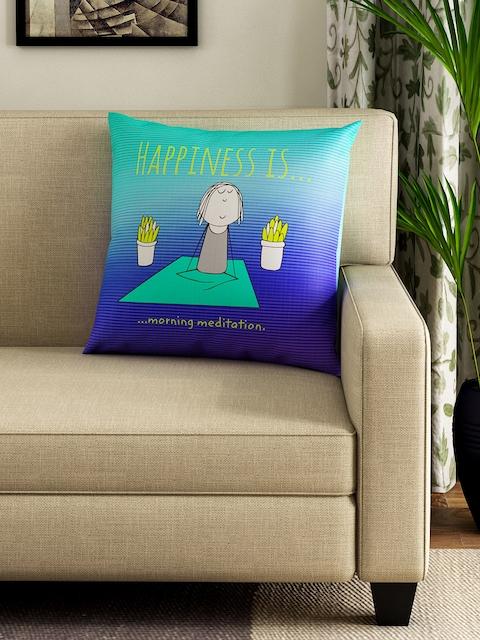 Portico New York Blue Printed Square 40.6 cm x 40.6 cm Cushion