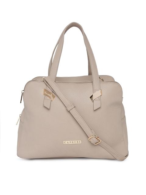 Caprese Beige Solid Handheld Bag