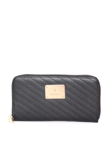 Van Heusen Woman Women Black Quilted Zip Around Wallet